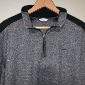 Calvin Klein 1/4 Zip Pullover Sweater Heather Gray